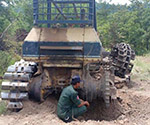 On the 23rd June, there was an anti tank landmine accident damaged a bulldozer and driver was unhurt!