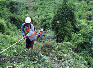 Extreme demining terrains with special skills and tools...