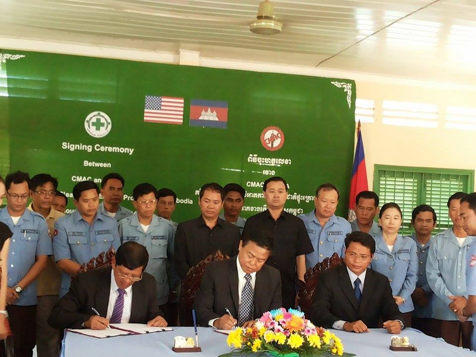 CMAC Received Fund to Support the ERW Clearance Project at the Eastern Part of Cambodia